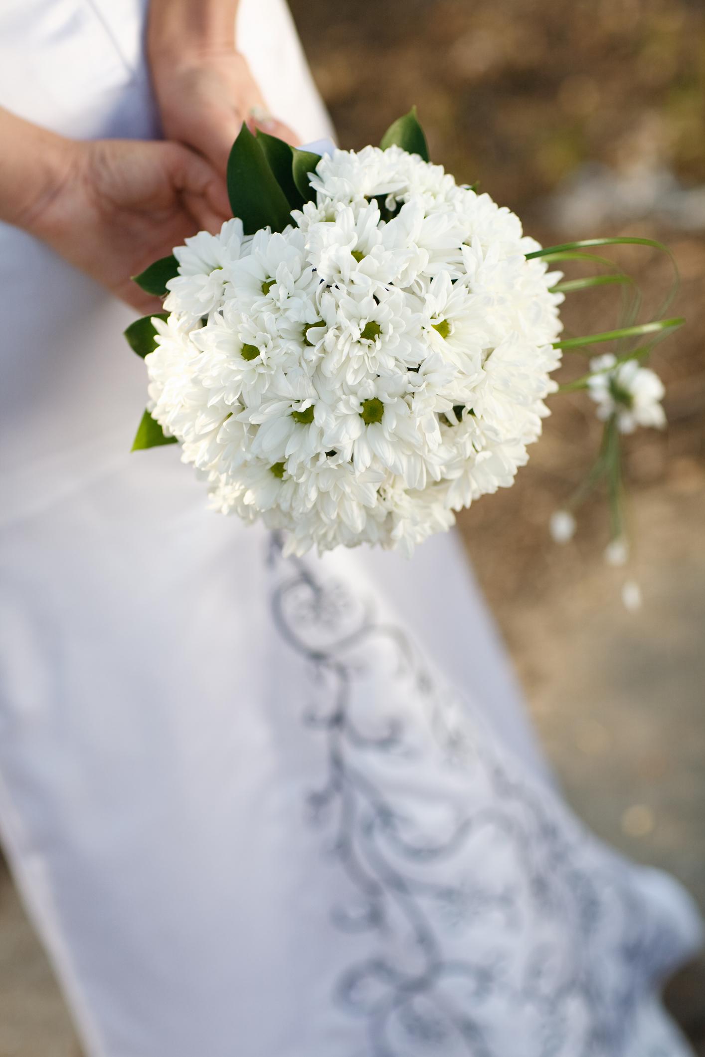 Букет ромашек фото на свадьбу